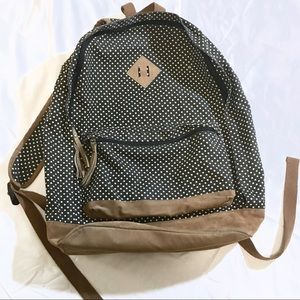 Mossimo Black+White Polka Dot Backpack